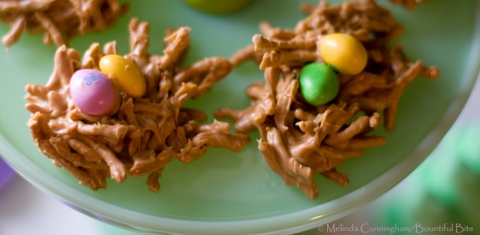 CW birds nest cookies